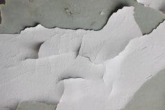 Tło tekstura biała grunge betonowa ściana z obieranie farbą Fotografia Royalty Free