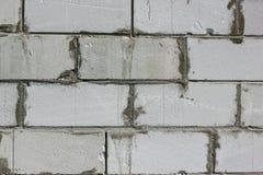 Tło tekstura biały Wagi lekkiej betonowy blok Zdjęcie Stock