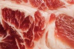 Tło tekstura marmurkowaty mięso Obrazy Royalty Free