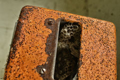 Tło tekstura rdzewiejący metal Fotografia Stock
