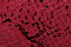 tło tekstura rzemienna czerwona Zbliżenie fotografia tła beżowa gada skóra beżowa Zdjęcie Stock