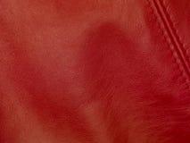 tło tekstura rzemienna naturalna czerwona fotografia stock
