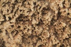 Tło tekstura skały żlobił wodą Obrazy Stock