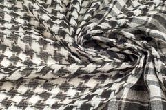 Tło tekstura, wzór Szalik wełna lubi Yasir Arafat P obrazy stock