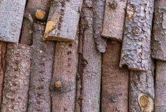 Tło tekstury barkentyna z iglastymi gatunkami materialnymi dla budowa dachu ogrodzenia eco budować naturalny Obraz Royalty Free