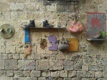 Tło tekstury kamienna ściana Zdjęcia Royalty Free