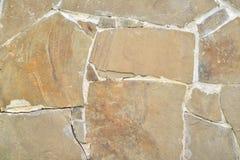 Tło, tekstury kamienna ściana nad całością ramy Horyzontalna rama Obraz Stock