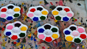 Tło tekstury paleta kolory maluje akwarelę zdjęcie stock