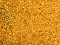 tło tekstury stara ceglana ściana Żółta pikantności mieszanka obraz stock