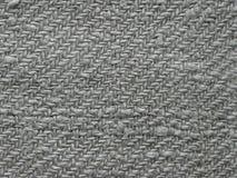 Tło, tkanina szary len handmade zdjęcia stock