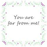 Tło Ty jesteś daleko od ja! royalty ilustracja