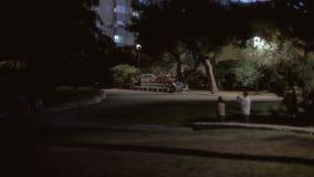 Tło ustanawia strzał parkową noc 02 zbiory