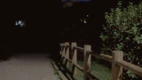 Tło ustanawia strzał parkową noc 07 zdjęcie wideo