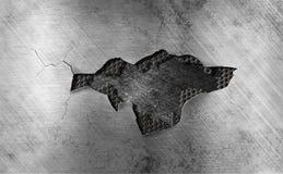 tło uszkadzający rusztowy metal Zdjęcie Stock