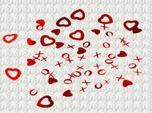 tło valentines Obrazy Royalty Free