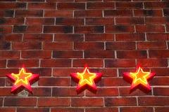 Tło w postaci ściany od czerwonej cegły Fotografia Royalty Free