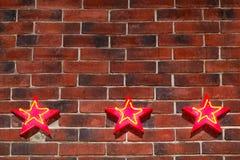 Tło w postaci ściany od czerwonej cegły Zdjęcie Stock