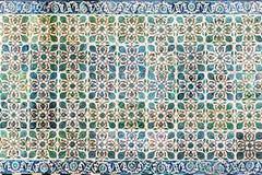 Tło w postaci Tureckich ceramicznych płytek Zdjęcie Royalty Free