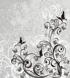 tło wektor motyli kwiecisty royalty ilustracja