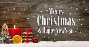Tło Wesoło boże narodzenia & Szczęśliwy nowy rok Zdjęcie Stock