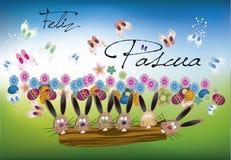 Tło wielkanoc (Szczęśliwy Wielkanocny tekst) Obrazy Royalty Free