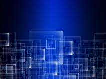 Tło wieloboka dane abstrakcjonistycznej technologii projekta komunikacyjna ilustracja royalty ilustracja