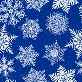 tło wielostrzałowy płatek śniegu Zdjęcia Royalty Free