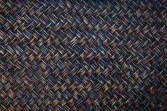 Tło wizerunek bambusowy lub łozinowy koszykowy wyplata Obrazy Royalty Free