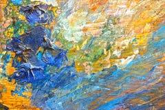 Tło wizerunek jaskrawy farby palety zbliżenie Fotografia Royalty Free