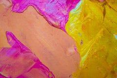 Tło wizerunek jaskrawy farby palety zbliżenie Tło Zdjęcia Royalty Free