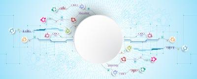 Tło wizerunek pokazuje abstrakcjonistyczny pojęcie innowacja i technologia może stosować twój biznes Zdjęcie Stock
