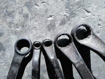 Tło wizerunek, wiele rodzaje ręk narzędzia obrazy royalty free