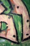 Tło wizerunek z graffiti elementami Tekstura ściana, malująca w różnych kolorach w graffiti projektuje pojęcie str Fotografia Royalty Free