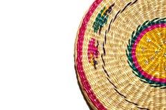 Tło - wyplatający spirala barwiący okręgu segment z słomianym te zdjęcie stock