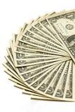 tło wystawia rachunek dolara my biały Zdjęcie Stock