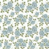 tło wzór błękitny kwiecisty Obrazy Stock