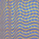 Tło wzór w kwadratowy błękitnym żółty i Wektorowy illustrat Zdjęcia Royalty Free