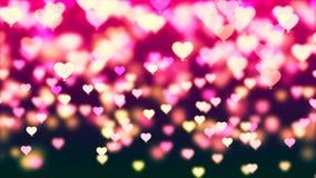 Tło z ładnym kolorowym lataniem szybko się zwiększać serca ilustracja wektor