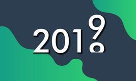 Tło z śmiałym colour dla 2019 ilustracja wektor