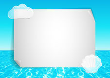 Tło z abstrakcjonistycznym ocean końcówki niebieskim niebem ilustracji