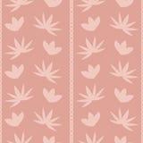 Tło z abstraktów liści i kwiatów wzorem Obraz Royalty Free