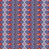 Tło z abstrakt barwiącym rhombus i kwiatami Zdjęcia Stock