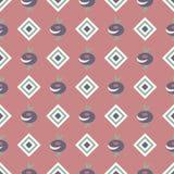 Tło z abstrakt barwiącym rhombus wzorem i kwiatami Fotografia Royalty Free