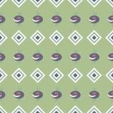 Tło z abstrakt barwiącym rhombus wzorem i kwiatami Obraz Stock