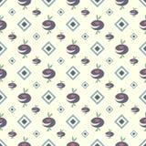Tło z abstrakt barwiącym rhombus wzorem i kwiatami Zdjęcia Stock