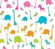 Tło z Afrykańskimi zwierzętami Obraz Stock