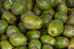 Tło z amarelle owoc w Asia rynku zdjęcie stock