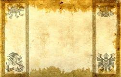 Tło z Amerykańsko-indiański tradycyjnymi wzorami ilustracji