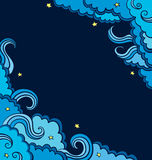Tło z błękitem chmurnieje na niebie royalty ilustracja