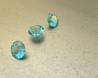 Tło z błękitnymi gemstones ilustracja 3 d Zdjęcia Royalty Free